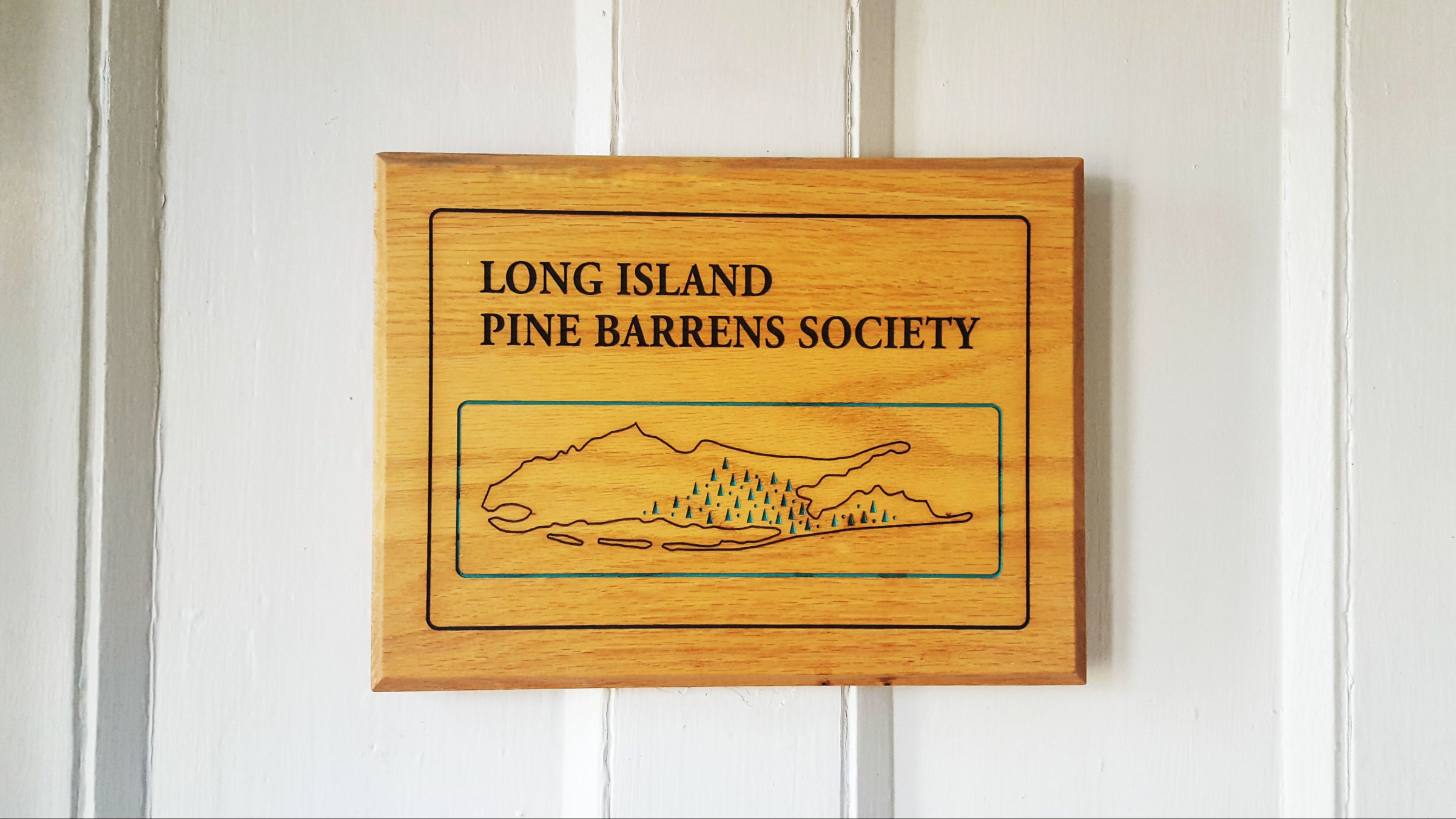 Front door sign of the Pine Barrens Society