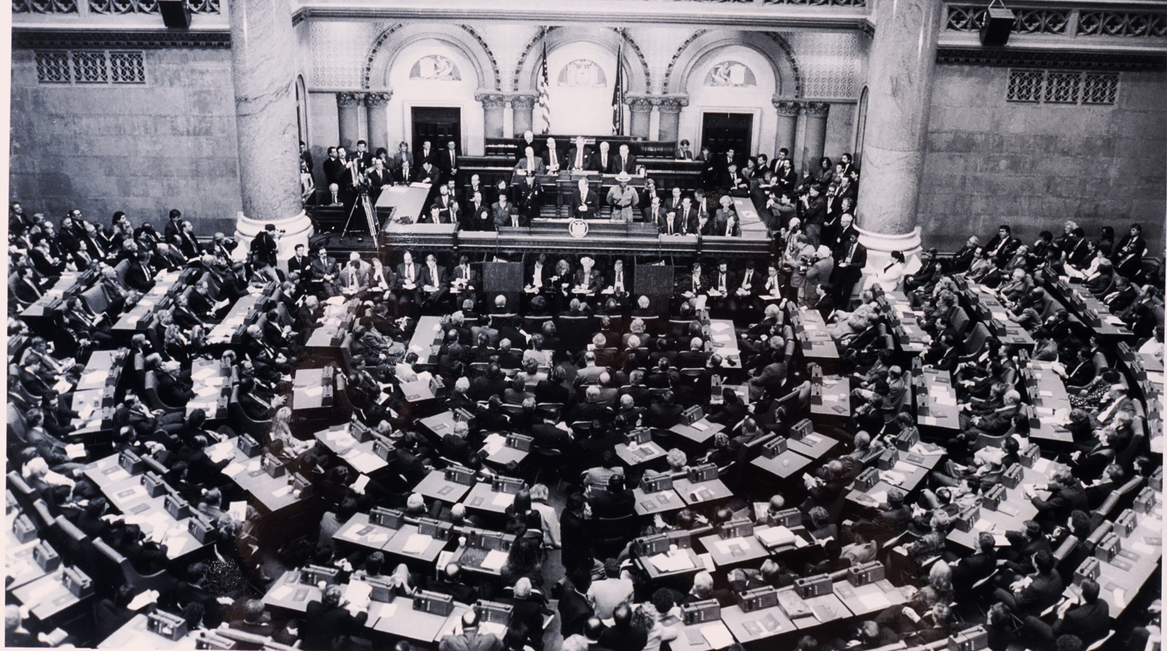 New York State Legislature in session