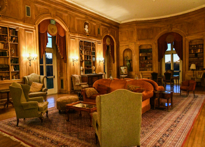 Historical library at Oheka Castle
