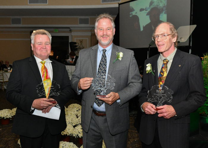 Three founders accept awards