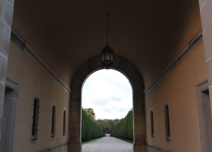 Entrance tunnel into Oheka Castle