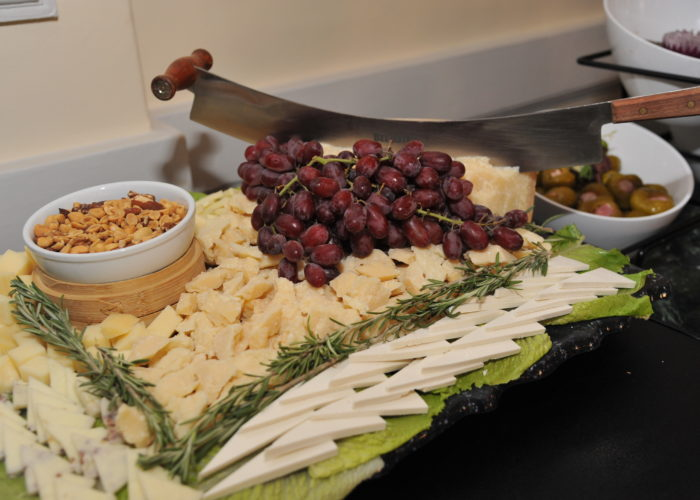Cheese platter at the cocktail hour at the Pine Barrens Society Gala