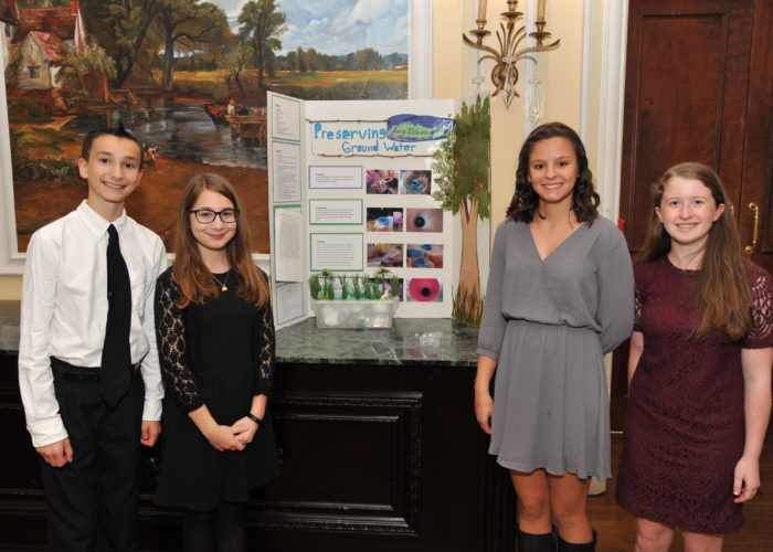 Middle school students honored for their science project at the Pine Barrens Society Gala