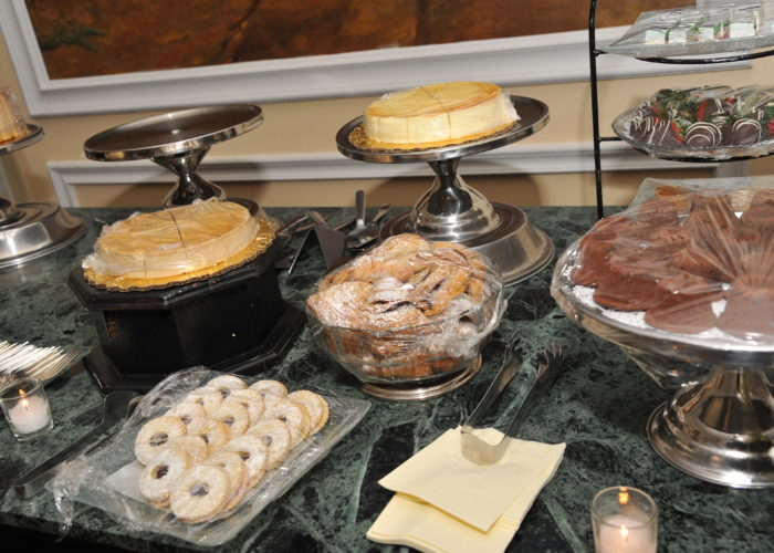 Buffet of desserts at Oheka Castle