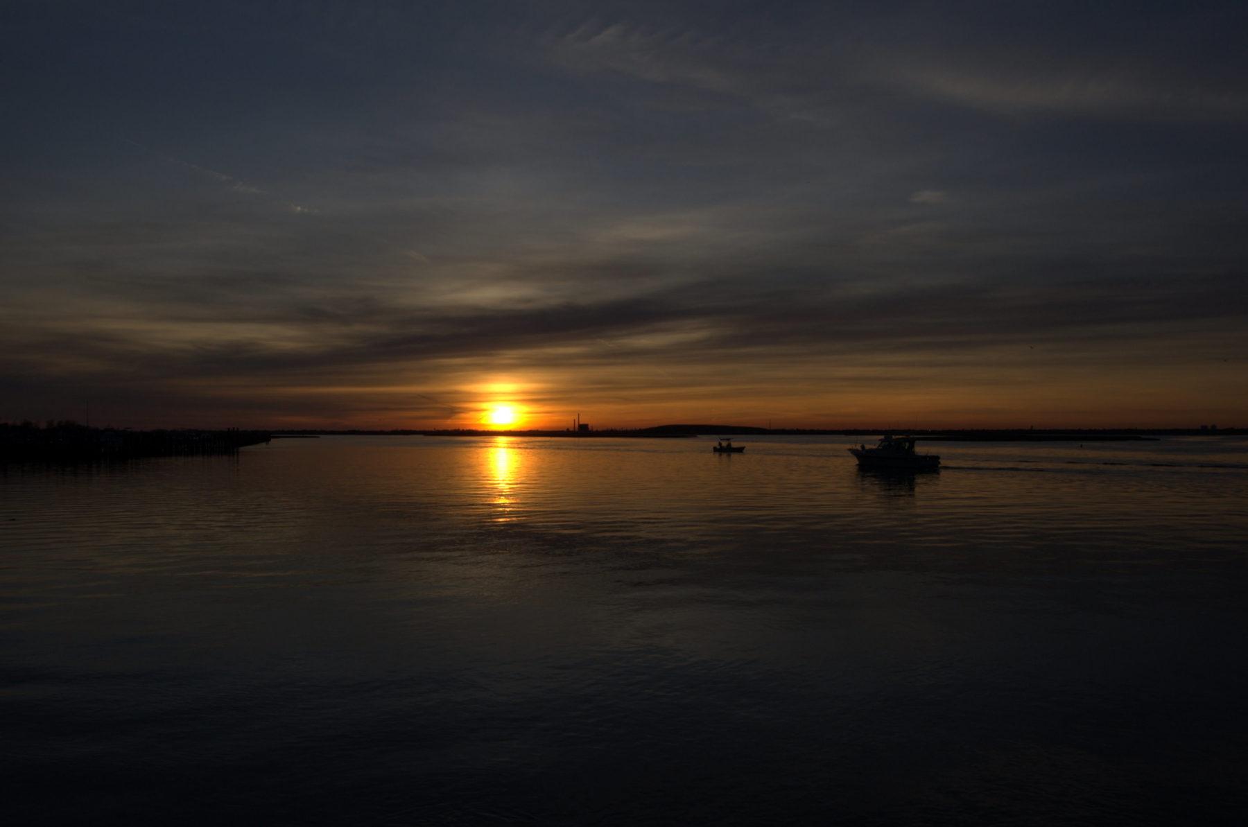 Sunset at a beach on Long Island