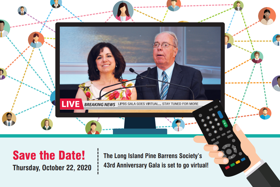 Pine Barrens Gala Save the Date Card - October 22 2020 Virtual Event