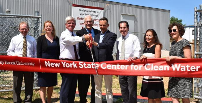Ribbon Cutting Ceremony at the Stony Brook Center for Clean Water Technology (Credit: SBU)